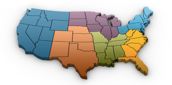 US map of all the regions IBS covers